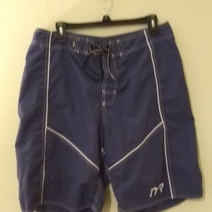 TYR Blue Lace Up Swim Shorts